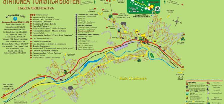 Harta rutieră ocolitoare Bușteni