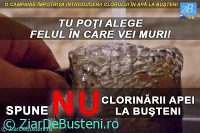 Campania – Spune NU clorinării apei la Bușteni!
