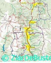 Harta traseelor turistice