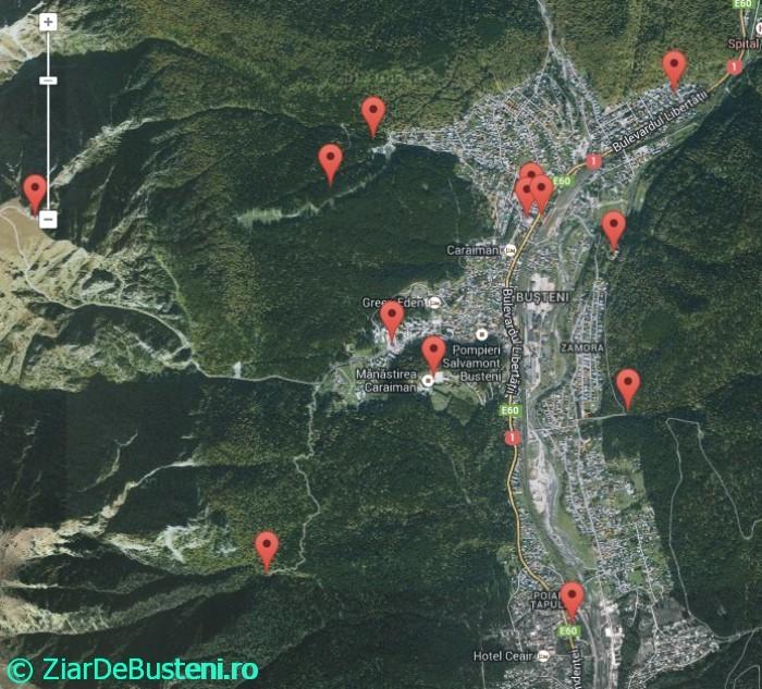 Harta obiective busteni