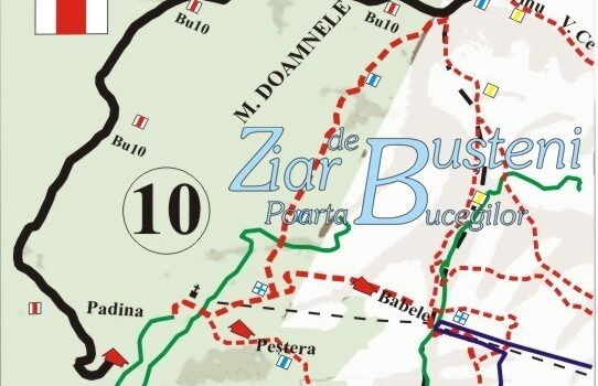 5 noi trasee montane extrase din harta Bucegi Busteni