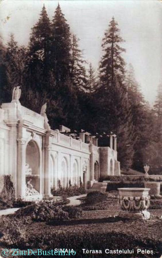 Sinaia - Terasa Castelului Peles, 1912