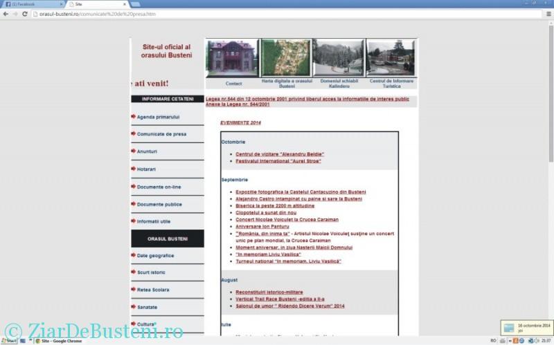 site oficial primaria busteni