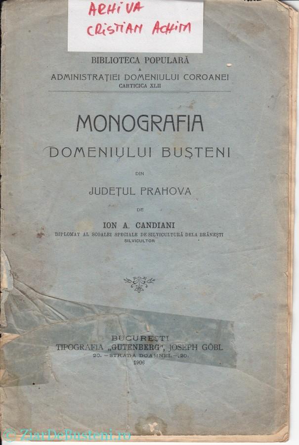 MONOGRAFIE BUSTENI 1906