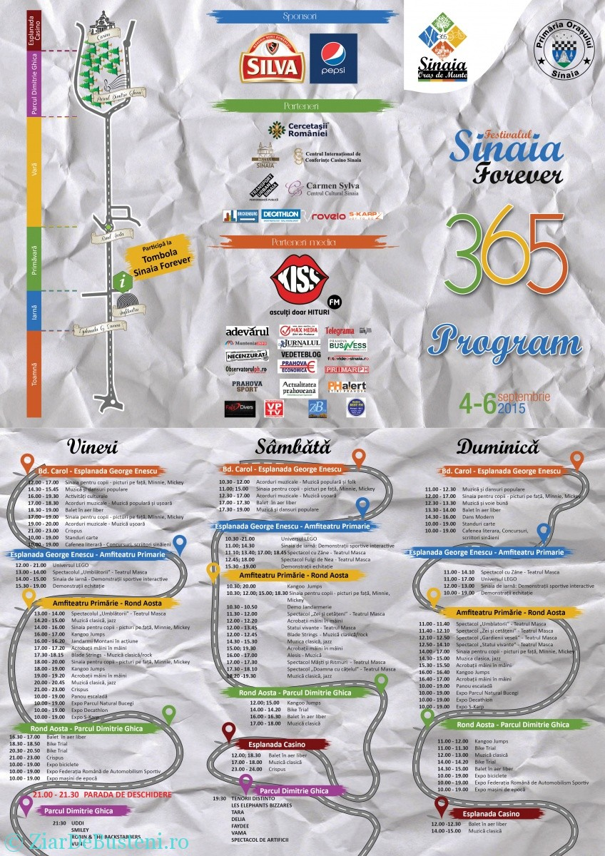 Program Sinaia Forever 2015