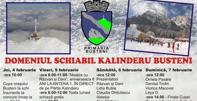 Zilele Orașului Bușteni – 4 – 7 Februarie la pârtia Kalinderu