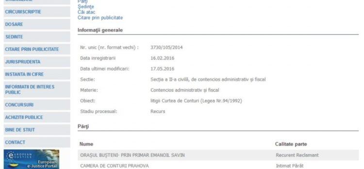 Curtea de Conturi la Bușteni – Emanoil Savin și managementul defectuos – 14.195.000 RON ABATERI CONSTATATE