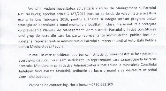 Planul de Management al P.N. Bucegi pt Bușteni – Meniu complet