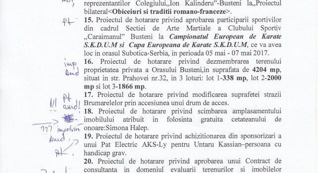 Ședință ordinară 27.04.2017 la Bușteni, Simona Halep la pc 18