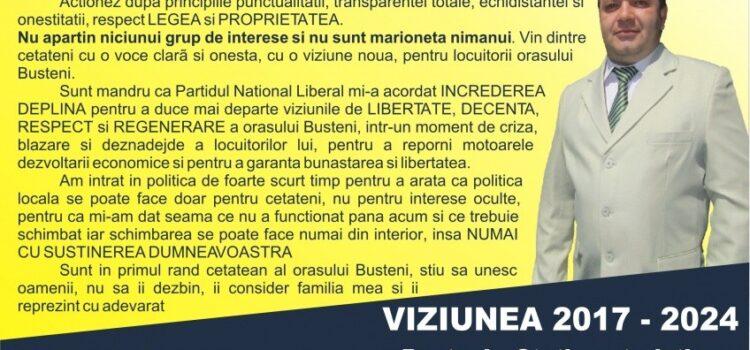 Contractul PNL cu CETĂȚEANUL ORAȘULUI BUȘTENI – Candidat Achim Virgiliu Cristian