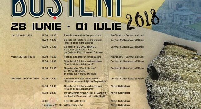 Zilele Orașului Bușteni – 28 iunie – 1 iulie