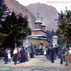 """Bușteni – Biserica cu hramul  """" Naşterea Presfintei Născatoare de Dumnezeu şi pururea Feciora Maria"""" sfinţită in 8 Septembrie 1889"""