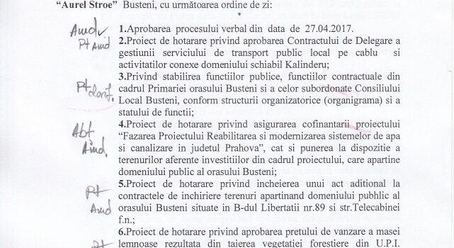 Ședință ordinară in 23.05, ordinea de zi, votul meu și Pârtia Kalinderu