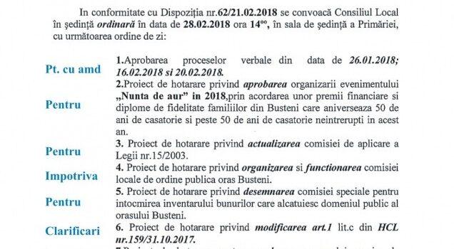 ALȚI beneficiari la Blocul ANL și ședință ordinară de CL la Bușteni, in 28 februarie