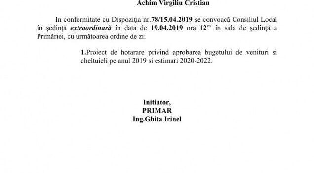 Foarte transparentul Buget Local se va vota in 19.04.2019 la Bușteni