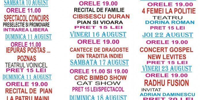 Zilele Culturii la Bușteni, 9-25 August și programul
